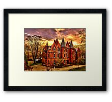Wellesley College,Schneider Center Framed Print
