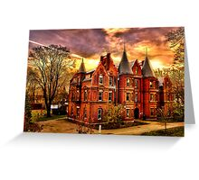Wellesley College,Schneider Center Greeting Card