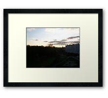 Automn in Migennes - Nov 2011 Framed Print