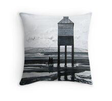 """""""There & Back"""" - The Low Lighthouse, Burnham-on-Sea Throw Pillow"""