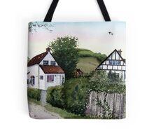 Cottages at Brent Knoll, Somerset Tote Bag