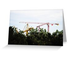 building trees Greeting Card