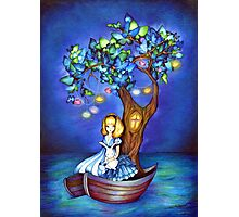 Alice in Wonderland Fantasy - Under the Dreaming Tree Photographic Print