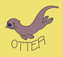 Cute River Otter Shirt Kids Tee