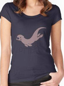 Cute River Otter Shirt Women's Fitted Scoop T-Shirt