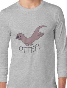 Cute River Otter Shirt Long Sleeve T-Shirt