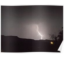 Lightning strikes in the Drakensberg, South Africa Poster