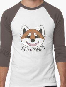 Cute Red Panda Grin Men's Baseball ¾ T-Shirt