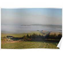 Staithes, in Fog Poster
