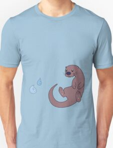 Cute Otter with Water Droplets T-Shirt