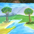 My 2nd pastoral painting by teaman123