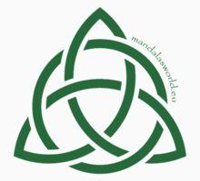 Celtic Holy Trinity Green by Mandala's World