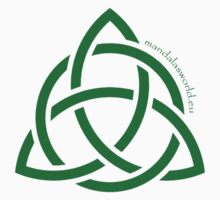 Celtic Holy Trinity Green by Mandala's World