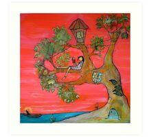 Paradise Reader Art Print