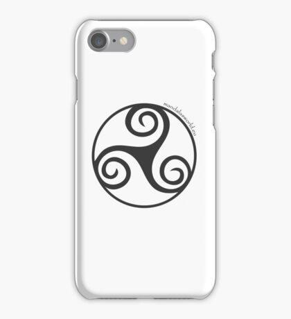 Celtic Triskel n1 Dark iPhone Case/Skin