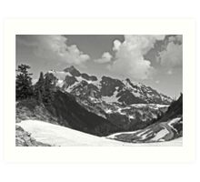 b&w mt shuksan, washington, usa Art Print