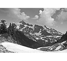 b&w mt shuksan, washington, usa Photographic Print