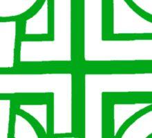 Celtic Knot n2 Green Sticker