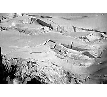 glacial flow b&w Photographic Print