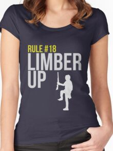 Zombie Survival Guide - Rule #18 - Limber Up Women's Fitted Scoop T-Shirt