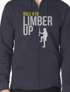 Zombie Survival Guide - Rule #18 - Limber Up Zipped Hoodie