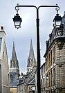 Bayeux Cathedral Towers by cclaude