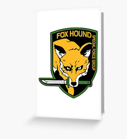 Metal Gear Solid - FOXHOUND Greeting Card