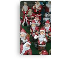 group of santa clause Canvas Print