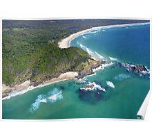 Byron Bay Aerial III Poster