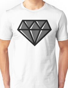 Diamond - Black Unisex T-Shirt
