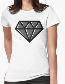 Diamond - Black Womens Fitted T-Shirt