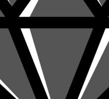 Diamond - Black Sticker