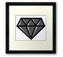 Diamond - Black Framed Print