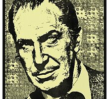 VINCENT PRICE-CANVAS by OTIS PORRITT