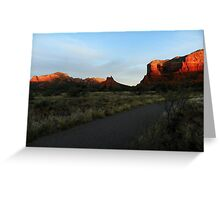 Sun Warms Faces of Red Rock Country Greeting Card