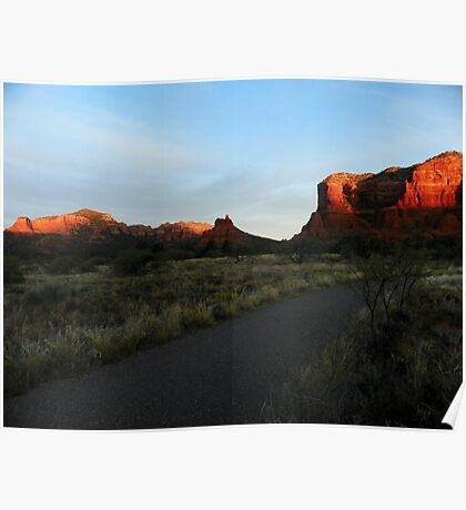 Sun Warms Faces of Red Rock Country Poster