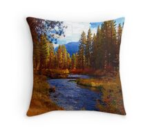 Evening Hatch on the Metolius River, Oregon Throw Pillow