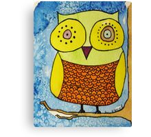 He Doesn't Give A Hoot Canvas Print