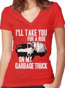 Sex Bob-Omb - Garbage Truck - Scott Pilgrim  Women's Fitted V-Neck T-Shirt