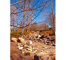 Dry Creek in Winter Photographic Print
