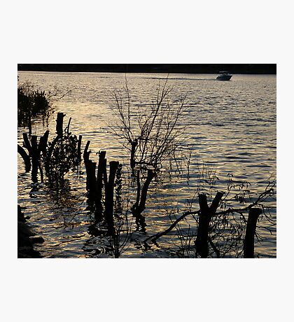 Sunset over the river Photographic Print