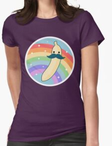 Cute Mustache Banana Womens Fitted T-Shirt