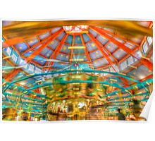 Carousel at Pullen park Poster