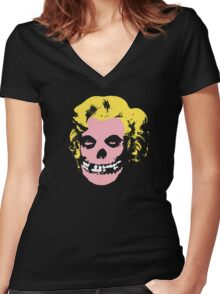 Misfit Marilyn Women's Fitted V-Neck T-Shirt