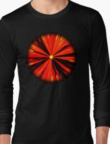 Eruption in Red Long Sleeve T-Shirt