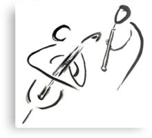 cello & oboe (haiga IX)  Metal Print