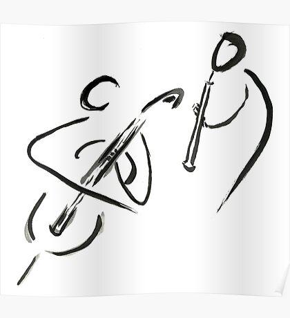 cello & oboe (haiga IX)  Poster