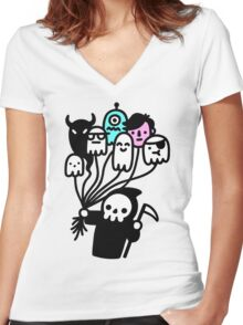 Soul Collector Doodle Women's Fitted V-Neck T-Shirt