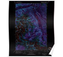 USGS Topo Map Washington State WA Forbidden Peak 241152 1963 24000 Inverted Poster