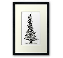 evergreen (haiga X) Framed Print